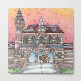 Chapel Hall Gallaudet University Metal Print