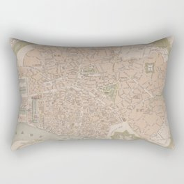 Vintage Map of Antwerp Belgium (1870) Rectangular Pillow