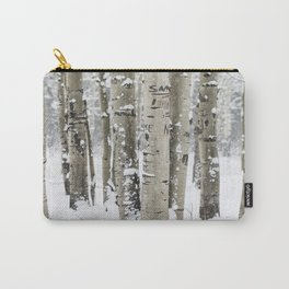 Winter Birch Forest Carry-All Pouch