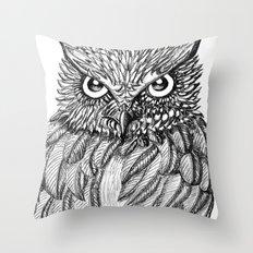 Fierce Owl Throw Pillow