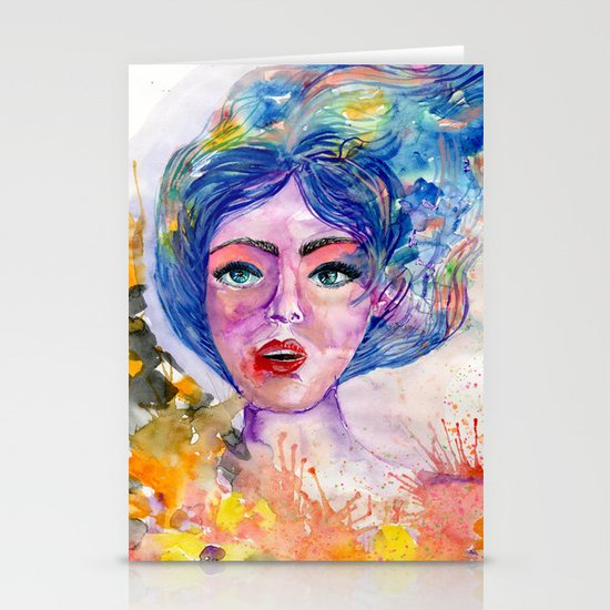 Colorful explosion Stationery Cards