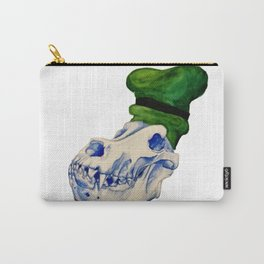Dog Skull with a Hat Carry-All Pouch