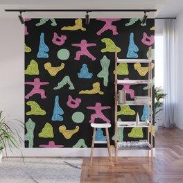 Rainbow Yoga Pattern Wall Mural