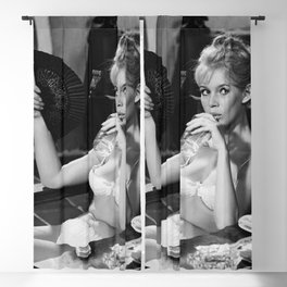 Brigitte Bardot Drinking and Smoking a Cigarette black and white photography / art photograph Blackout Curtain