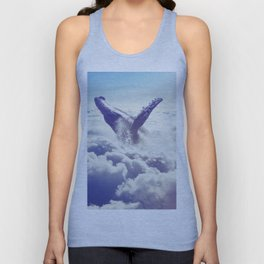 Cloudy whale Unisex Tank Top