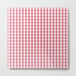 Nantucket Red Gingham Check Plaid Pattern Metal Print