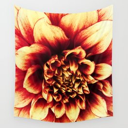 La Dahlia Red Wall Tapestry