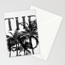 The End (Black) Stationery Cards