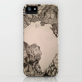 Zentangle Africa iPhone Case