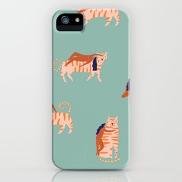 Tigers and girls iPhone Case