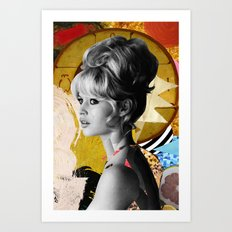 Golden Brigitte Bardot  By Zabu Stewart Art Print