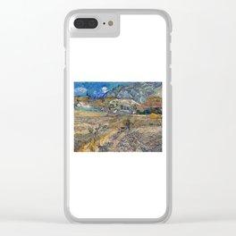 Vincent Van Gogh - Landscape at Saint Remy Clear iPhone Case