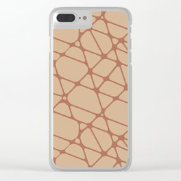 Cavern Clay SW 7701 Abstract Mosaic Pattern 2 on Ligonier Tan SW 7717 Clear iPhone Case