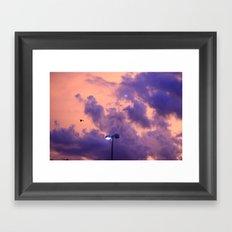 clouds(flying)2 Framed Art Print