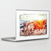 chicago bulls Laptop & iPad Skins featuring Beach Bulls by Zhineh Cobra