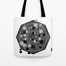 Ace of spades and star mandala Tote Bag
