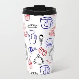 Food Hand draw pattern Travel Mug