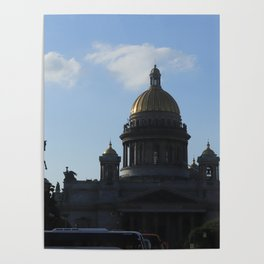 St. Isaac's Square. Saint Isaac's Cathedral. Poster