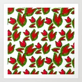 The Joy of Caladium Leaves Art Print