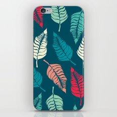 Leave Me Indigo Multi (Aqua Red) iPhone & iPod Skin