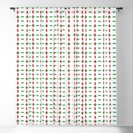 Christmas vector red and green horizontal and vertical stitches aligned on white background seamless Blackout Curtain
