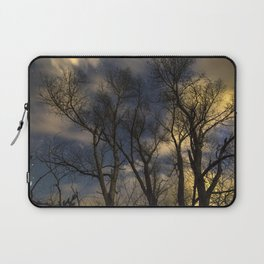 Enchanting Nighttime Trees and Sky Laptop Sleeve