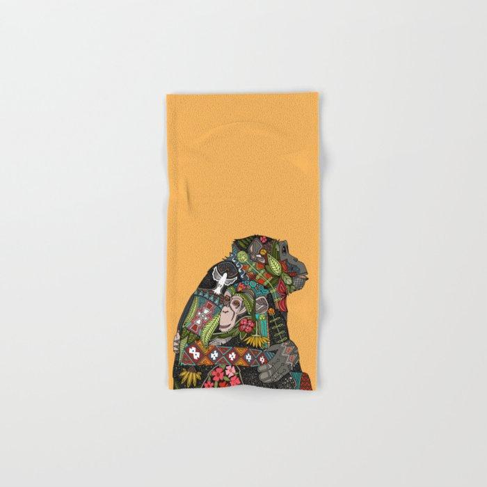chimpanzee love Hand & Bath Towel