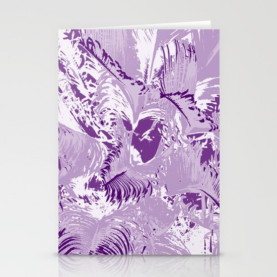 The mask - purple Stationery Cards