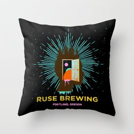 RUSE BREWING - THOUGHT FREQUENCY Throw Pillow
