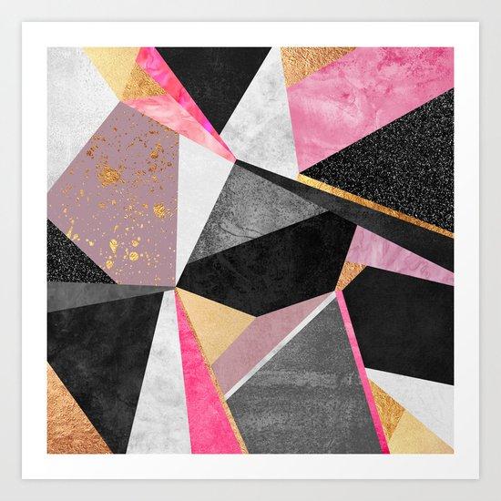 Geometry / Pink Art Print
