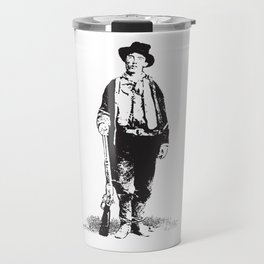 Billy the Kid Gunslinger William H Bonnie Vintage Historical West Black Travel Mug