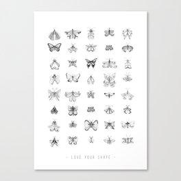 Love your shape Canvas Print