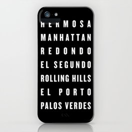 South Bay Beach Cities - Black iPhone Case