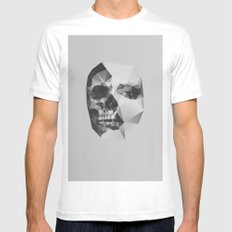 Life & Death. Mens Fitted Tee MEDIUM White