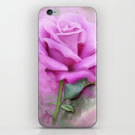 Watercolour Pastel Lilac Rose iPhone Skin