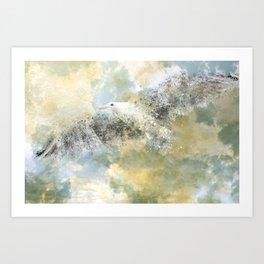 Vanishing Seagull Art Print
