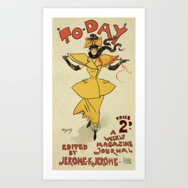 To-Day Dudley Hardy 1895 Art Print