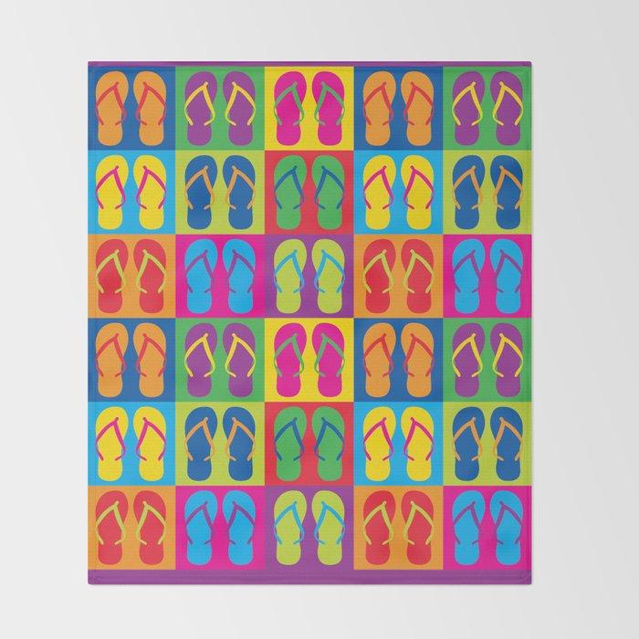 Pop Art Flip Flops Throw Blanket By Lisann Society40 Simple Flip Flop Throw Blanket