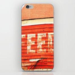 rustic feed sign iPhone Skin