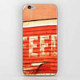 rustic feed sign iPhone Skin