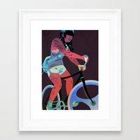 tattoos Framed Art Prints featuring Bicycles & Tattoos (4) by Matt Taylor