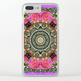 roses in a color cascade of freedom and peace Clear iPhone Case
