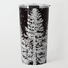 Trees in a Winter Forest Travel Mug