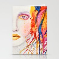 splatter Stationery Cards featuring Splatter by Funkygirl4ever95