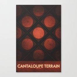Triton - Cantaloupe Terrain Canvas Print