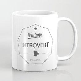Vintage Introvert Coffee Mug