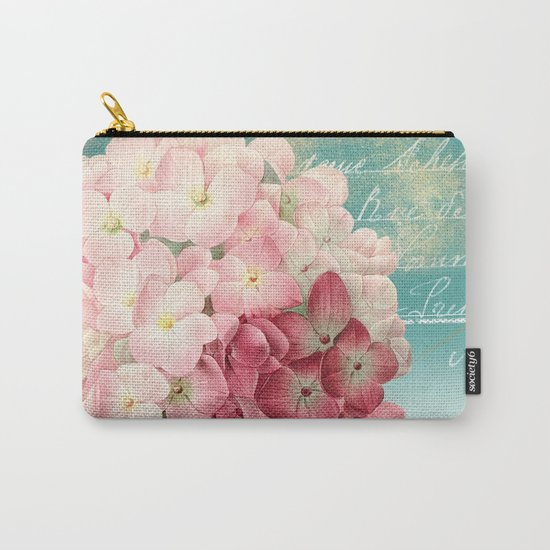 Vintage flowers #12 Carry-All Pouch