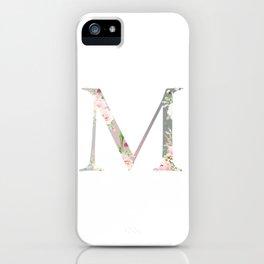 M - Floral Monogram Collection iPhone Case