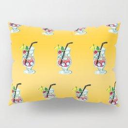 Watercolor Summer Cocktail Pillow Sham