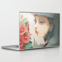 et Laptop & iPad Skins featuring Pensees et roses tremieres by Ludovic Jacqz